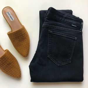 MOTHER the looker dark wash skinny jeans
